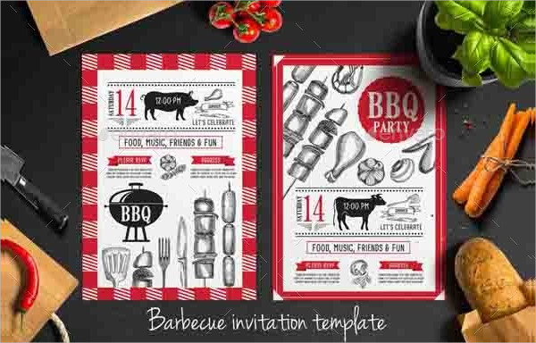BBQ Party Restaurant Invitation Template