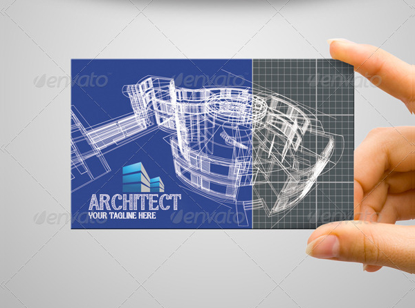 Clean Architect Business Card Template