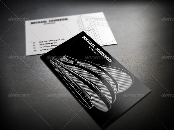 Clean Architect Vector Business Card Template