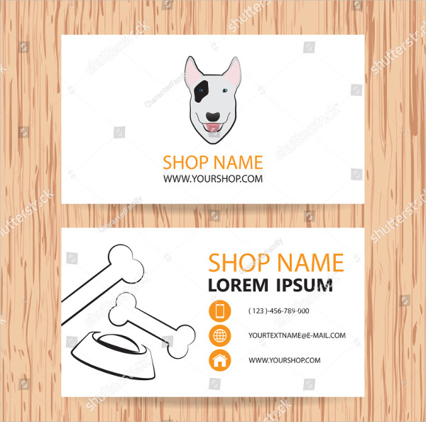 Pet Clinic Business Card Template Vector