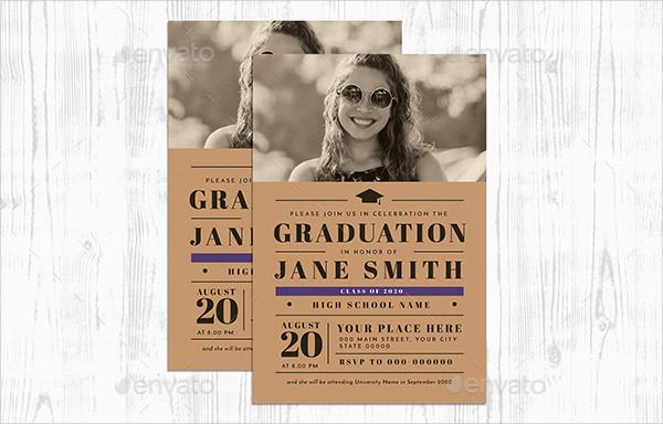 Graduation Party Event Invitation Template