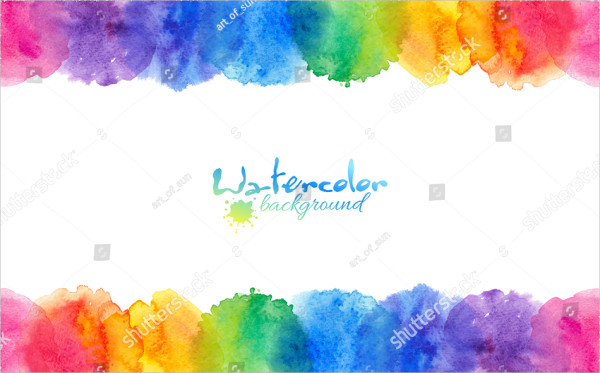 Bright Rainbow Watercolor Brushes
