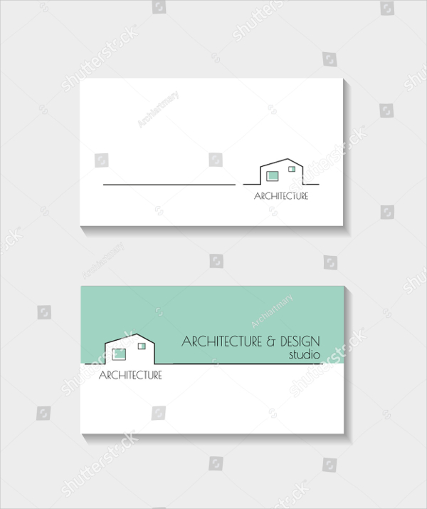 Colorful Architecture Business Card Template