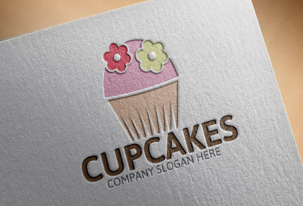 Cupcake Company Logo Template