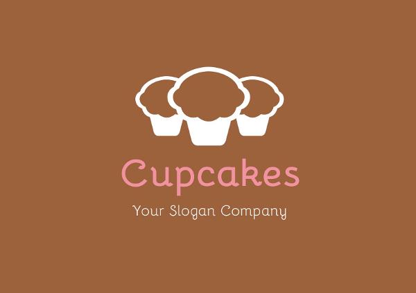 Cupcake Dessert Logo Template