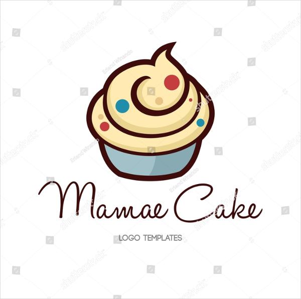 Cupcake Vector Logo Template