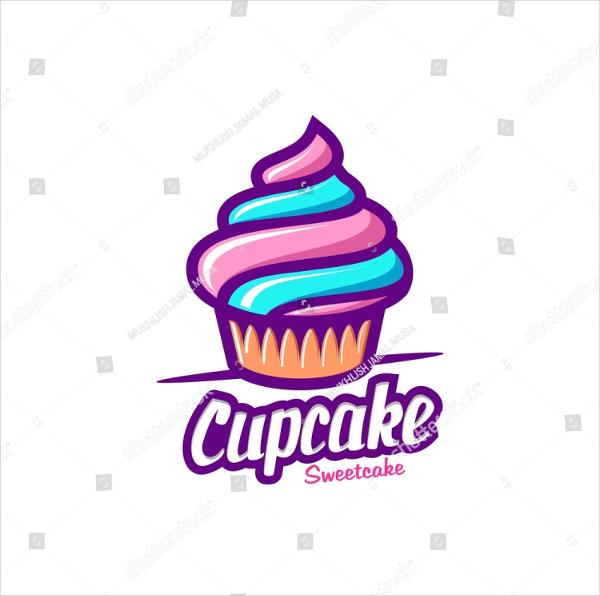 Vintage Cupcake Logo Template