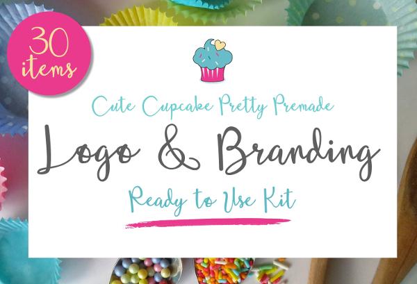 Cute Cupcake Brand & Logo Kit