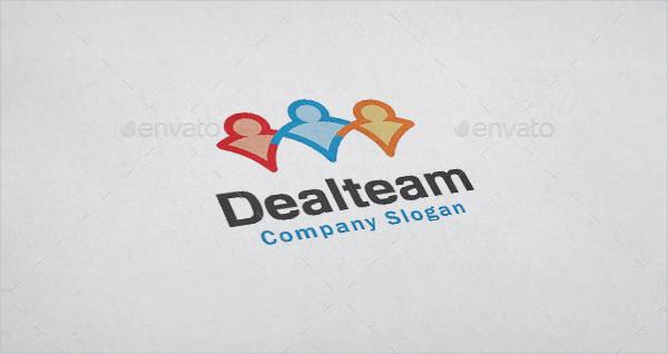 Fully Editable Team Deal Logo Template