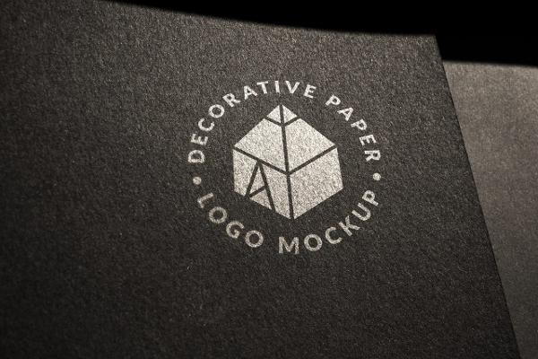 Decorative Paper Logo Mock-up