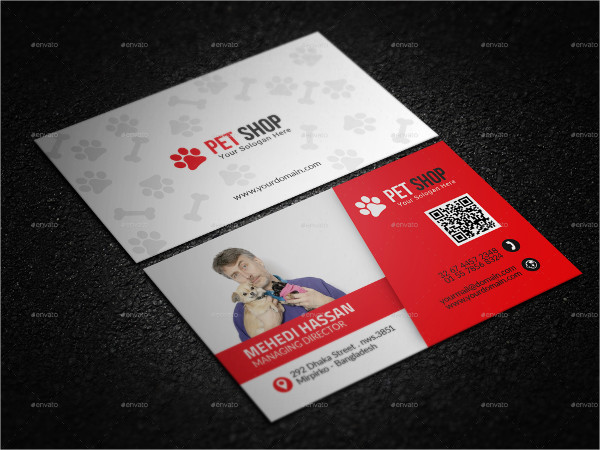 Printable Pet Shop Business Card Template