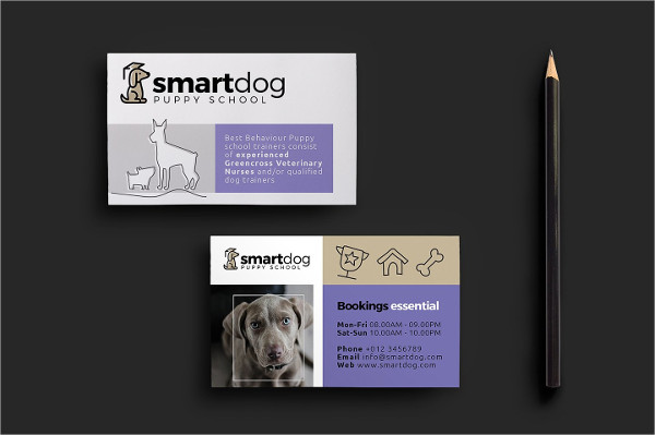 Ready To Print Pet Business Card Template