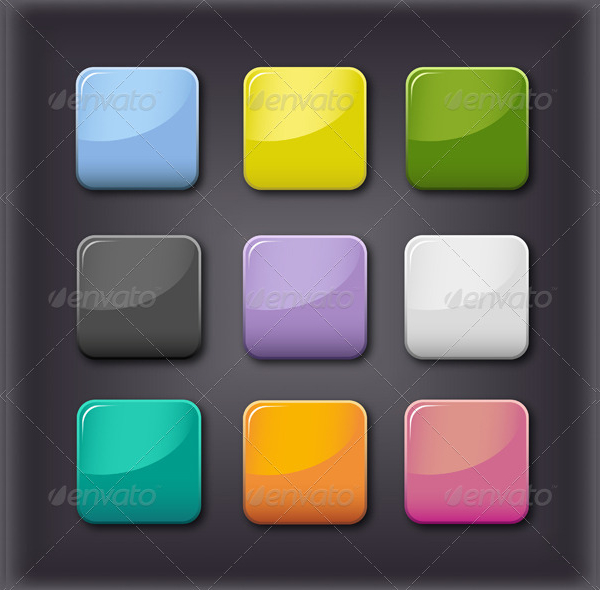 Glass Editable Buttons Template