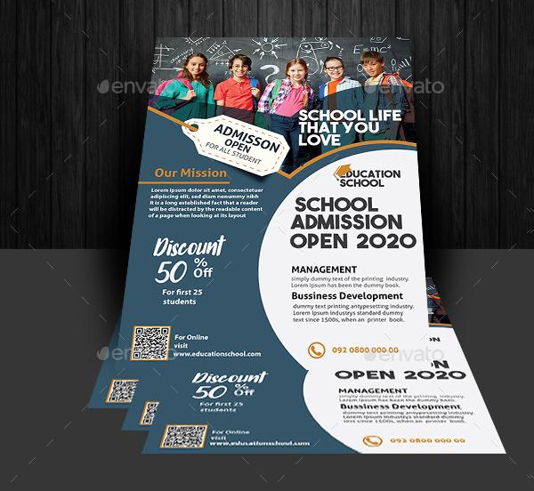 Unique Education Flyer Design Template