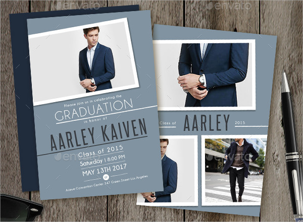 Professional Graduation Dinner Invitation Template