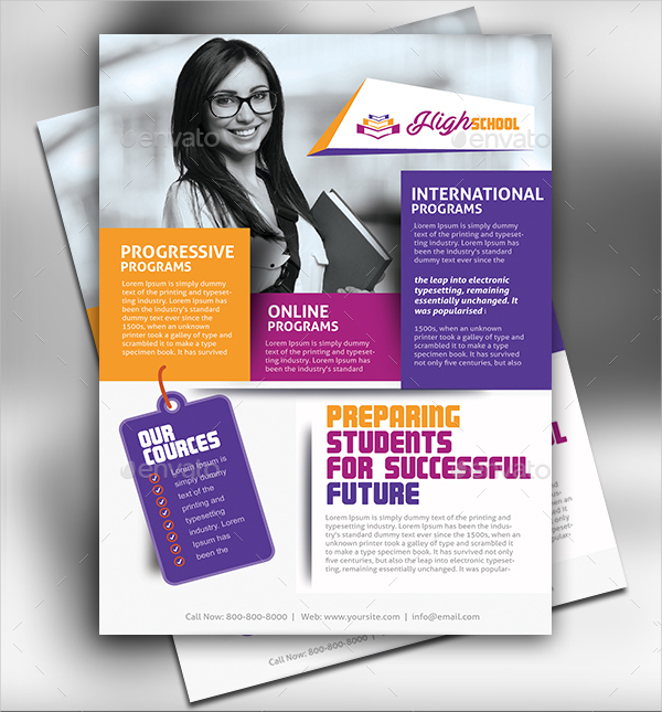 Education Promotion Flyer Template