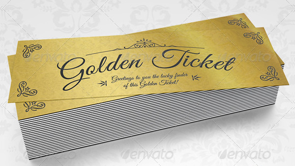 Elegant Golden Tickets