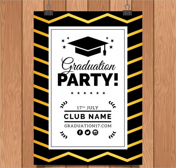 Free Vector Graduation Invitation Template