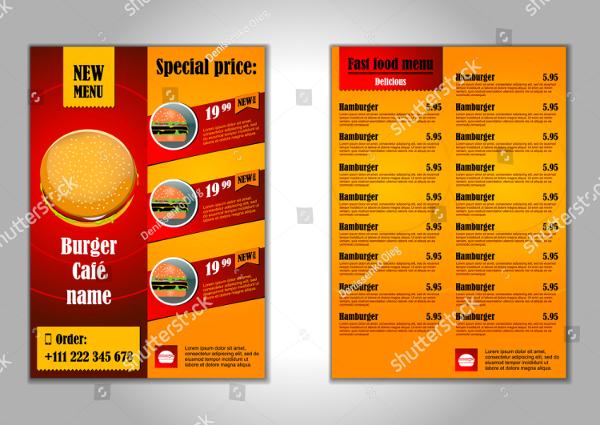 Fast Food Design Flyer Template