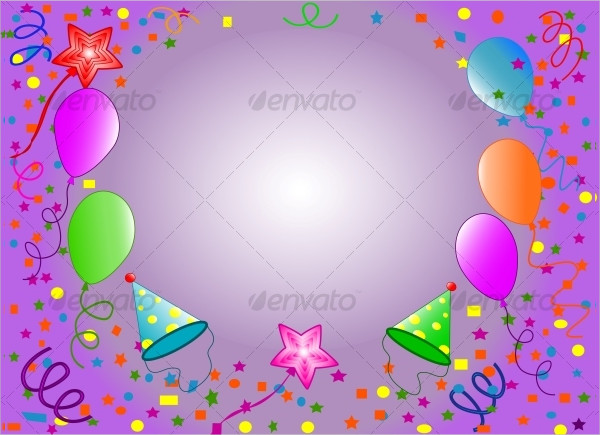 Colorful Birthday Balloons With Gift Boxes