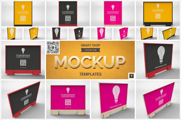 Flyer Display Mockup Templates