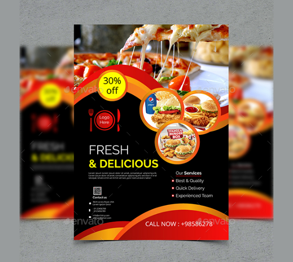 Food Advertising Flyer Template