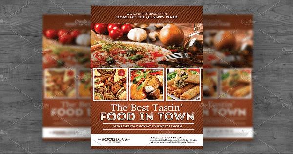 Food Offer Service Flyer Template