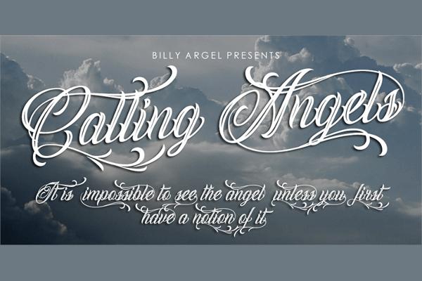 Free Handmade Calling Angels Fonts