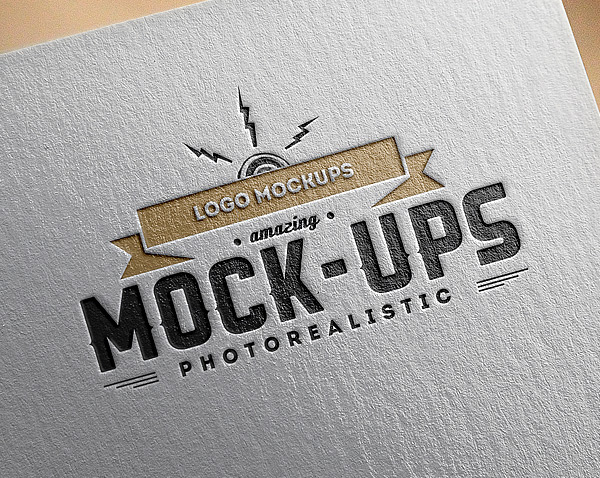 Free Paper Logo Mock-Up Template