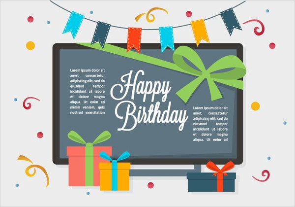 Free Birthday Vector Backgrounds