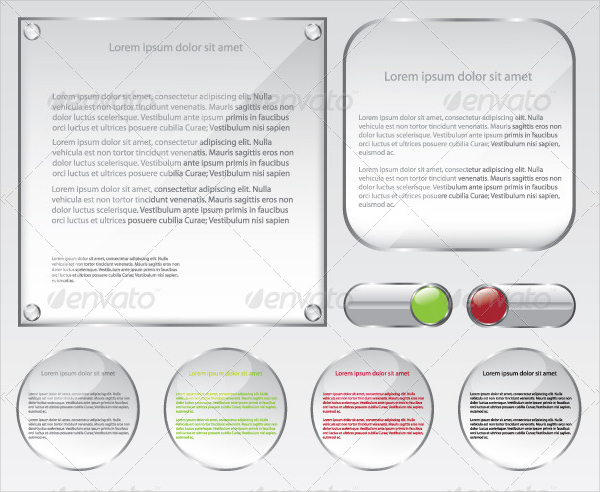 Glass Web Frame Buttons Template
