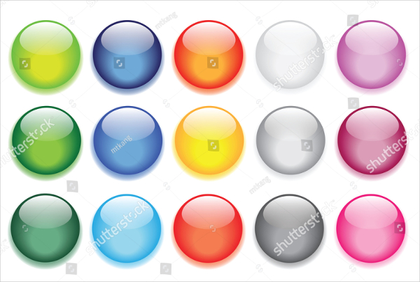 Glossy Design Glass Vector Buttons