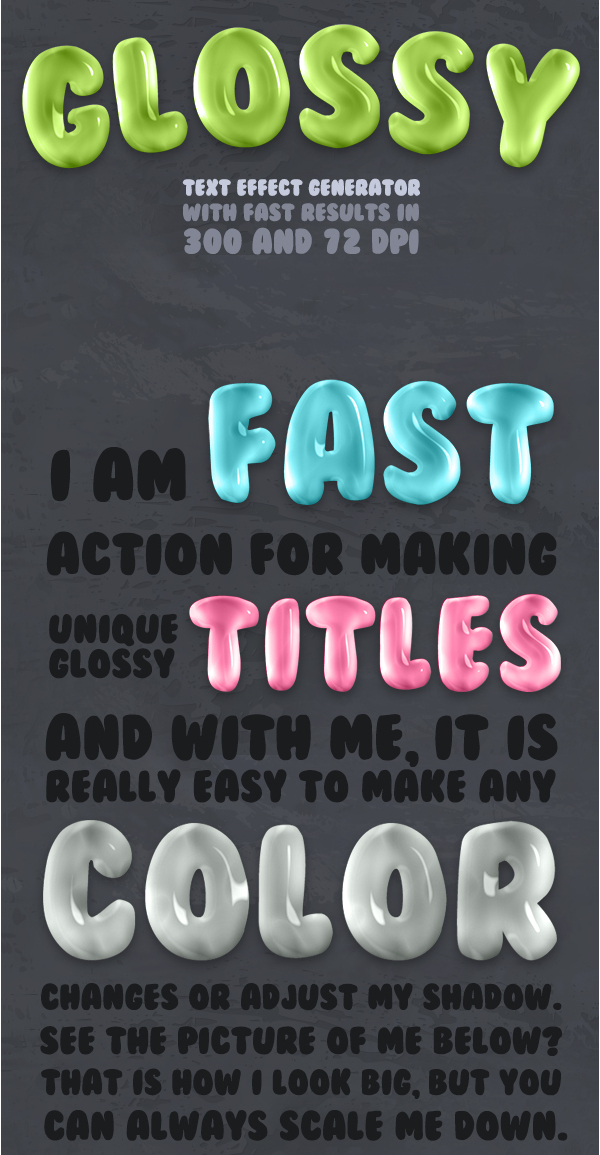 Glossy Text Effect Photoshop Actions