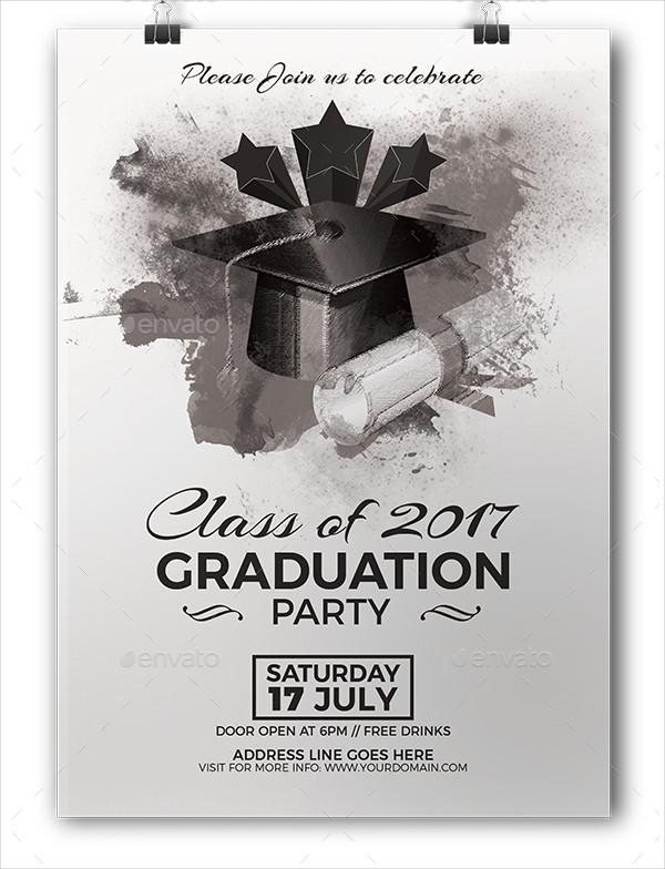 Graduation Gold Card Invitation Template