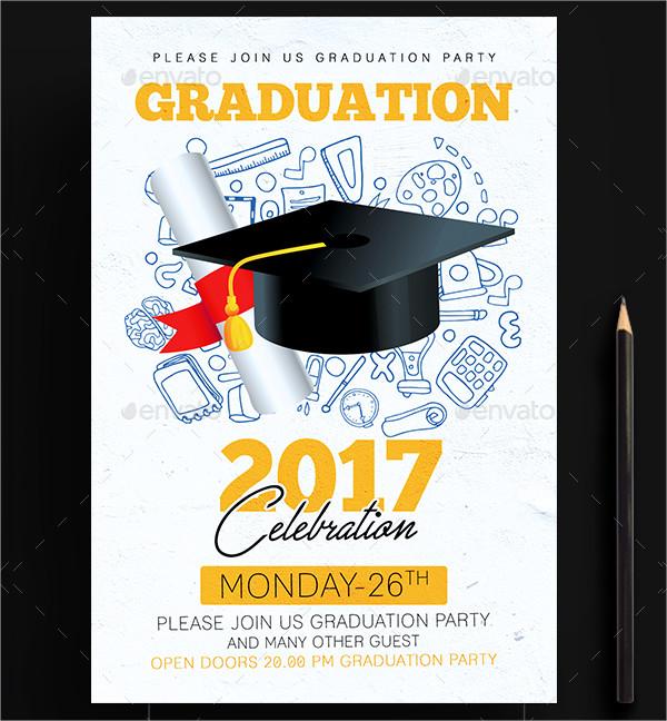 Special Graduation Party Celebration Invitation Design Template