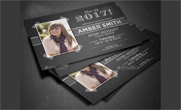 Print Ready Graduation Party Invitation Design