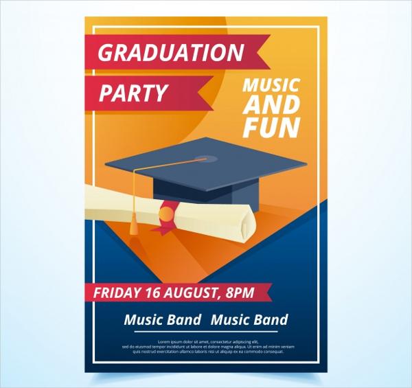 Graduation Party Flyer Free Vector