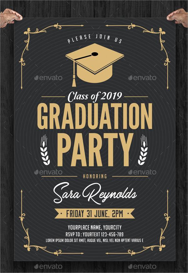 Fully Editable Graduation Party Invitation Template