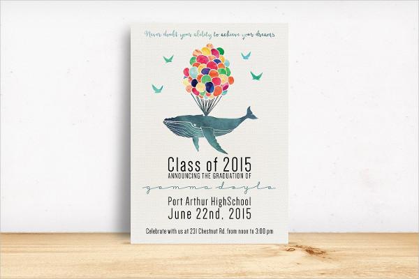Attractive Graduation Party Invitation Design