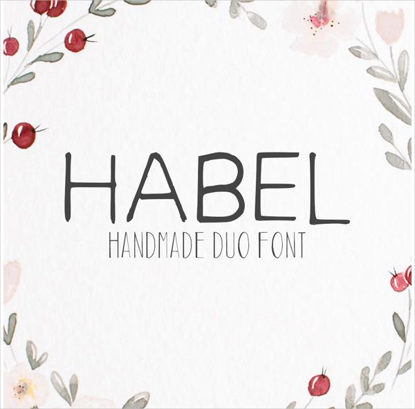 Handmade Habel Design Fonts