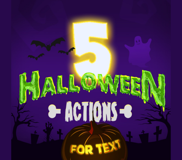 Text Halloween Photoshop Actions