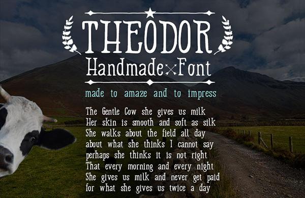 Handmade Theodor Fonts Design
