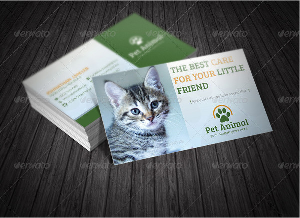 Cute Pets Business Card Template