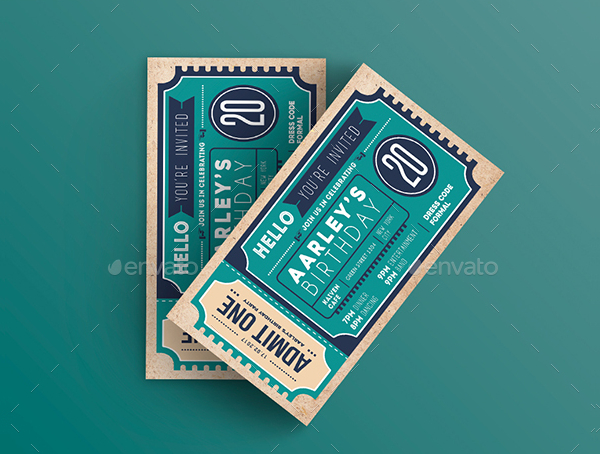 Ticket Invitation Design Templates