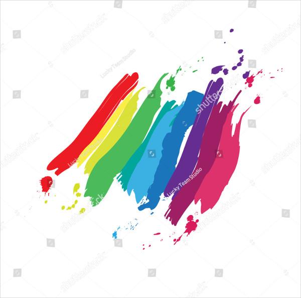 Rainbow Colored Splash Brushes