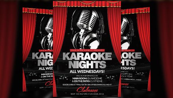 21 Karaoke Flyer Templates Free Premium Psd Illustrator Downloads