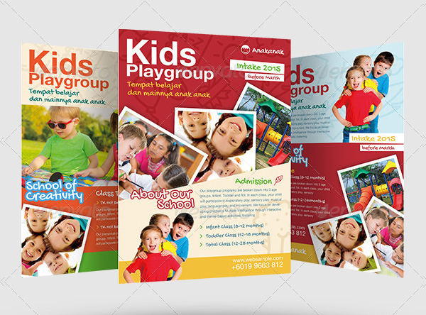 kids playgroup flyer template