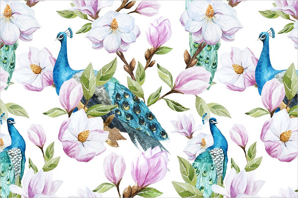 Magnolia Peacock Patterns Set