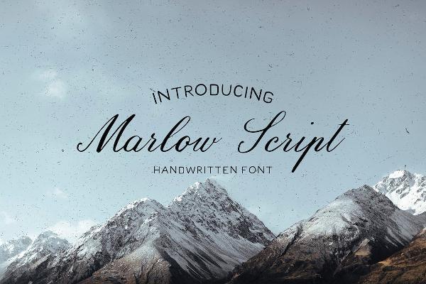 Handmade Marloe Seript Fonts