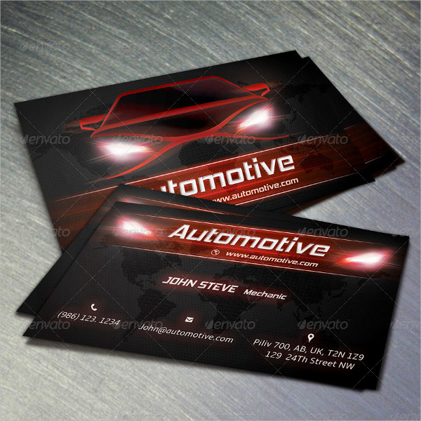 18 Automotive Business Card Free Psd Eps Ilrator